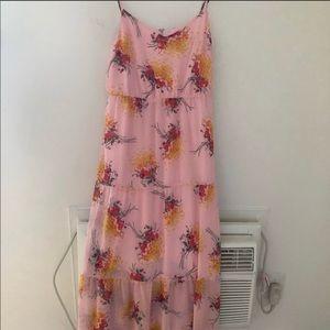 🌼Dress Sale🌼 Pink Floral Print Maxi Dress